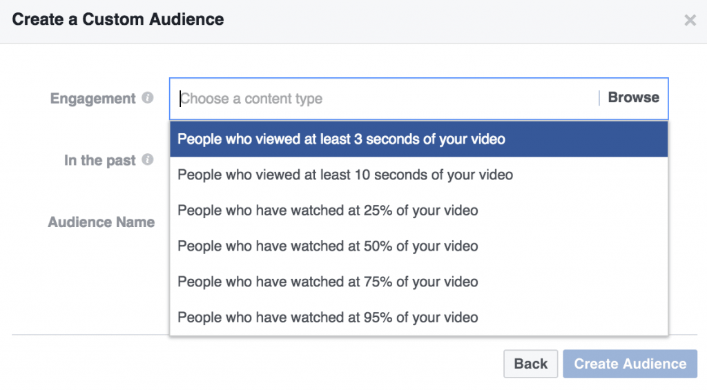 Image result for video custom audiences facebook