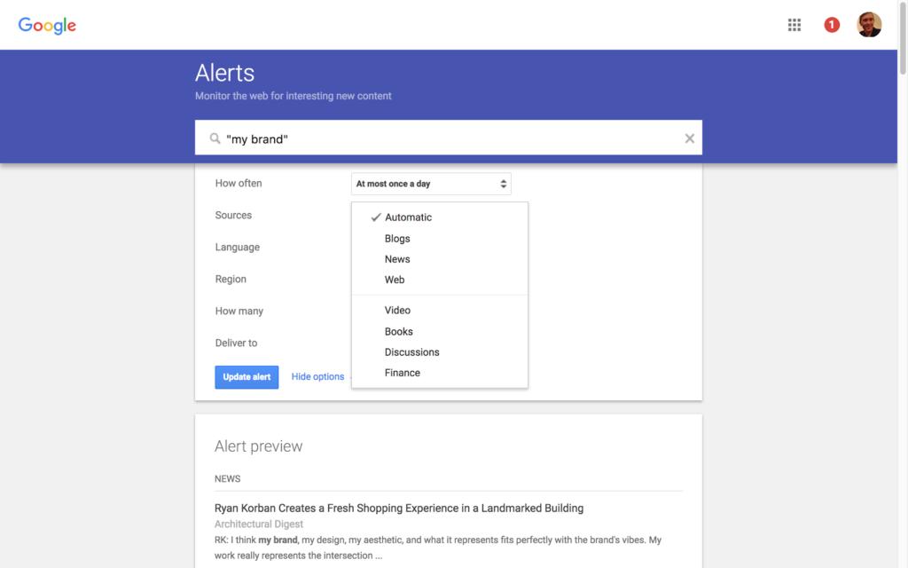 Image result for google alerts