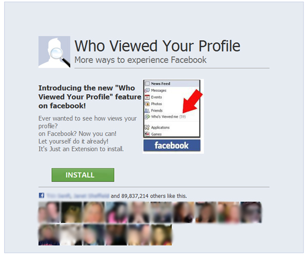 see who viewed profile scam